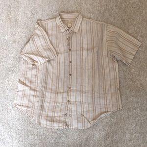 Jos.A.Bank Linen Short-Sleeve Button-Down, XXL